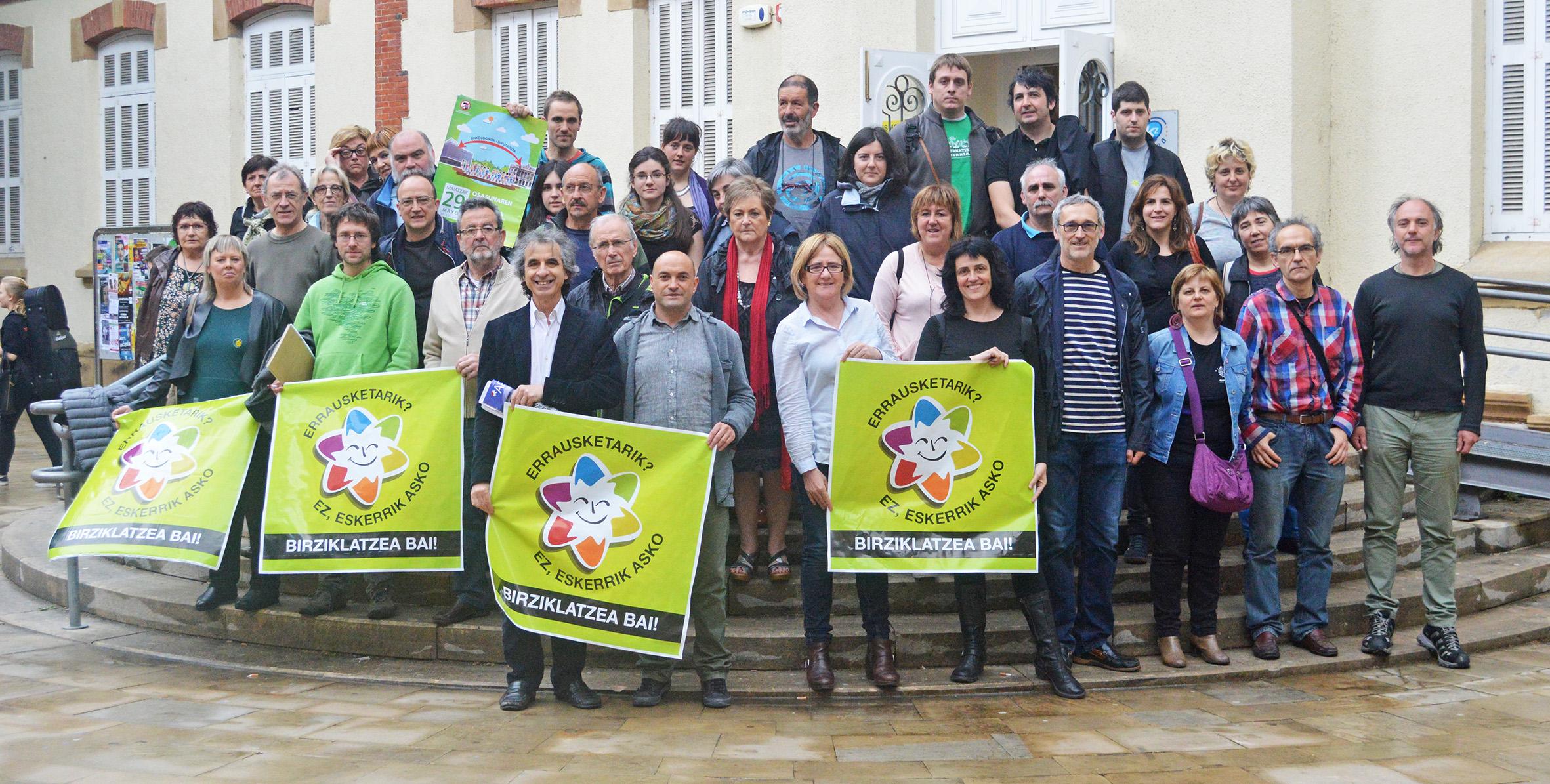 Rossano Ercolini, presidente de Zero Waste Europa ha visitado la «zona cero» donde quieren construir la incineradora de Zubieta