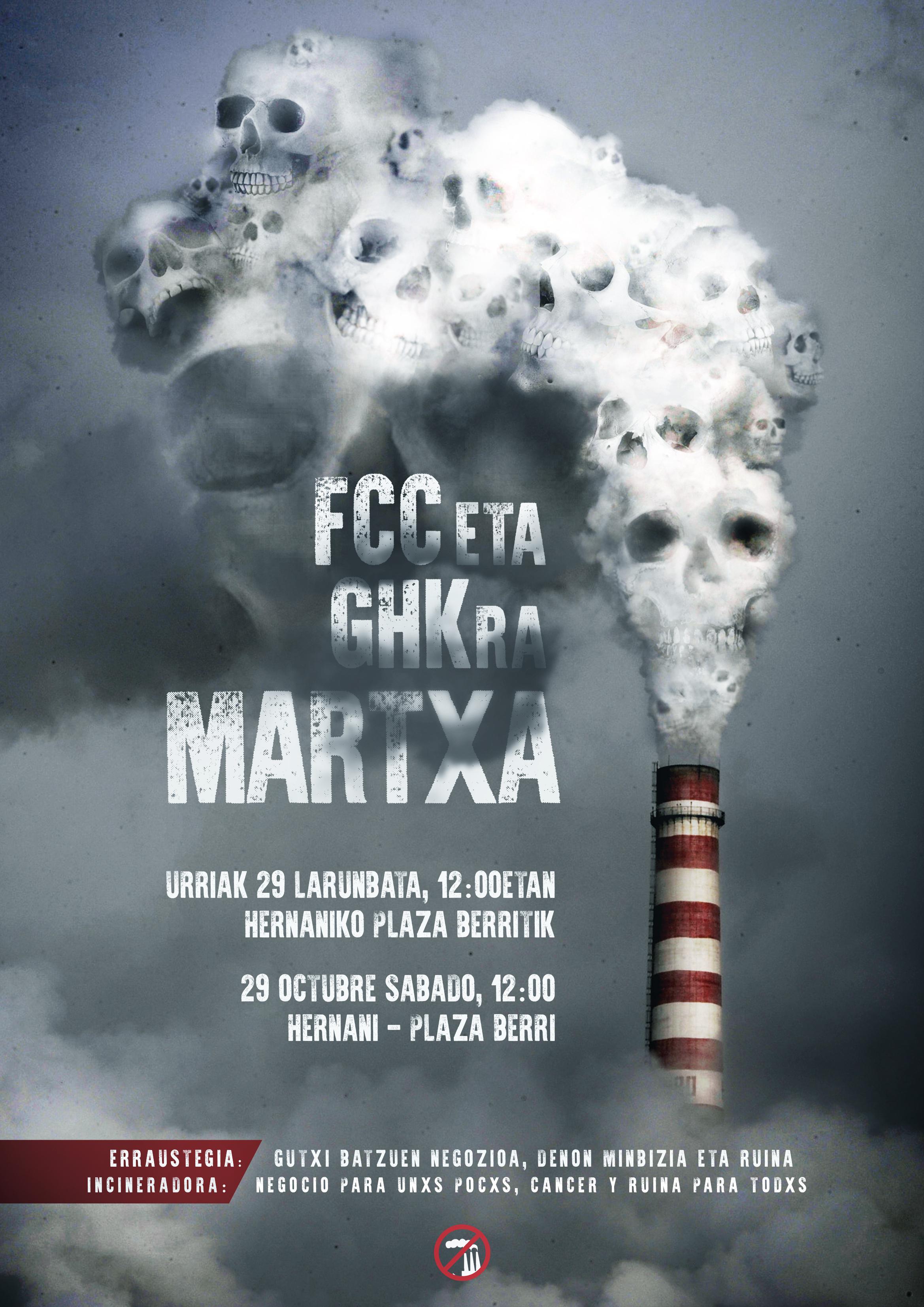 El sábado, en Hernani, nueva jornada de movilización contra la incineradora