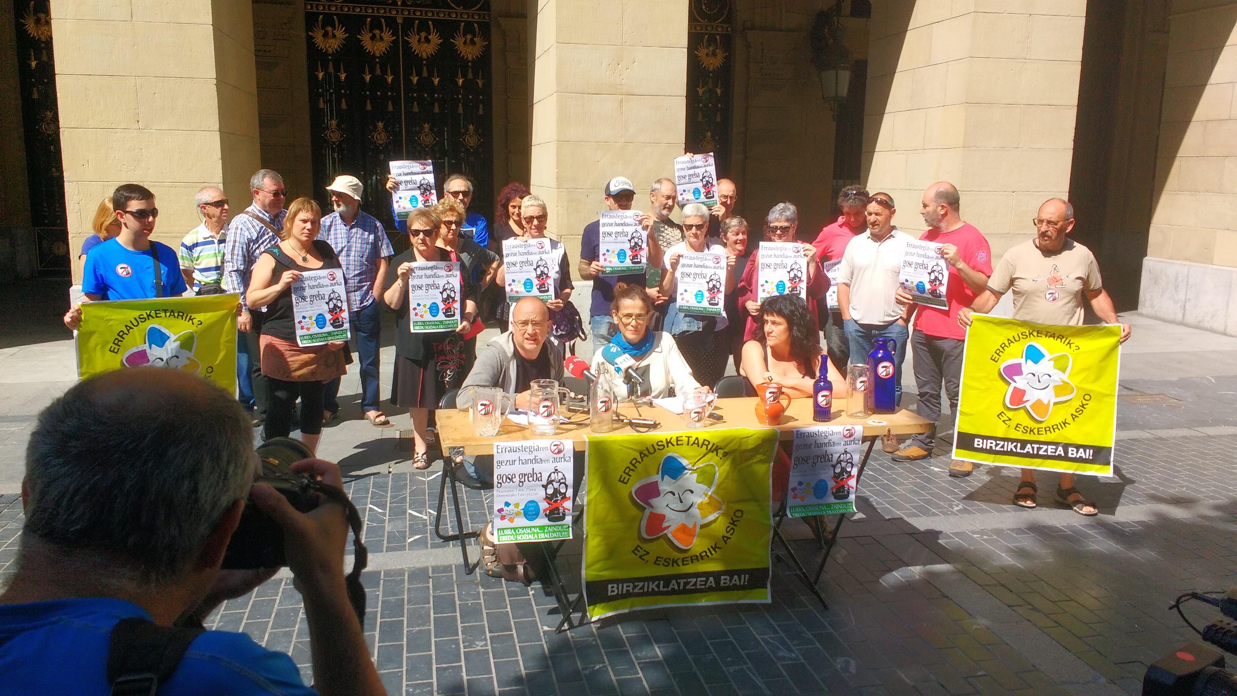 Huelga de hambre contra la gran mentira de la incineradora