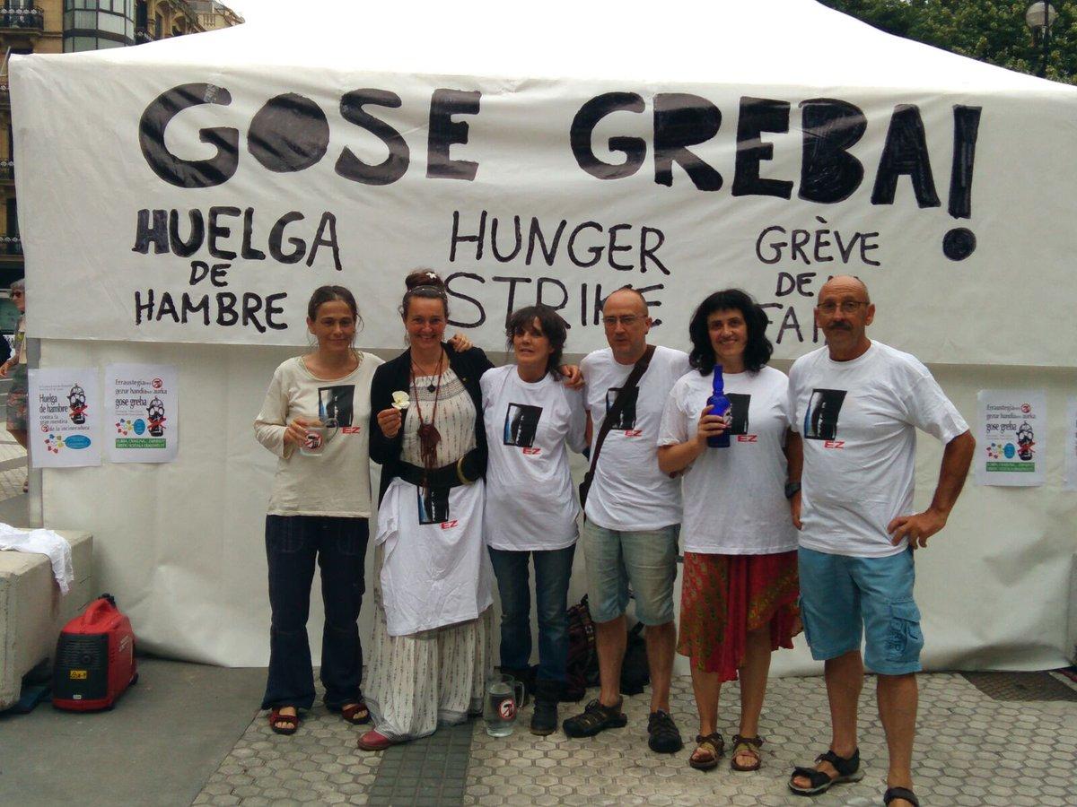 14 de junio, primer dia de la huelga de hambre en contra de la incineradora