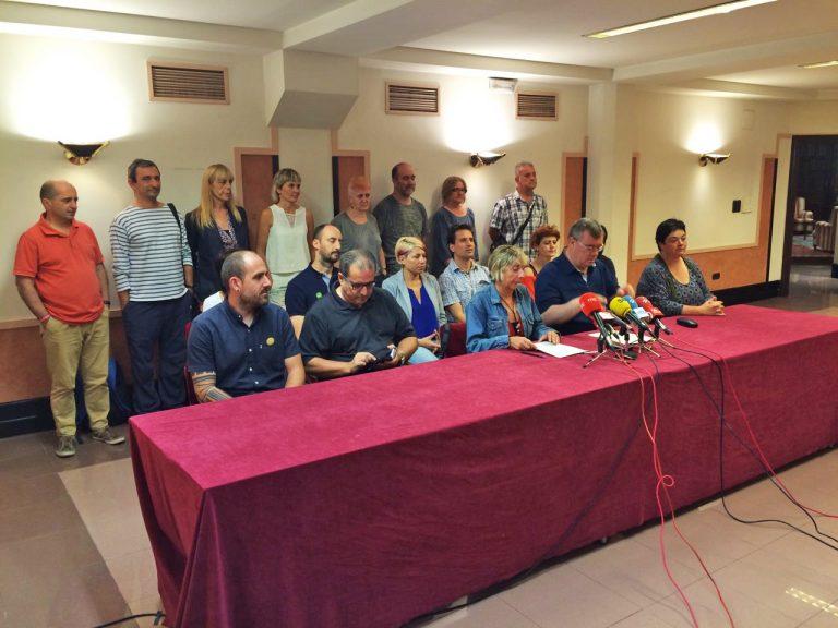 Grupos ecologistas, organizaciones sindicales y partidos politicos, ante el proyecto de construcciones de una planta incineradora en Zubieta