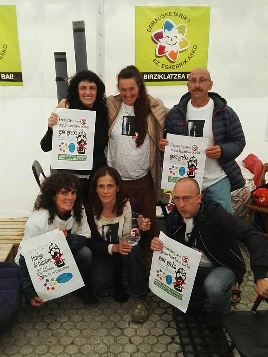 15 de junio, segundo dia de la huelga de hambre en contra de la incineradora