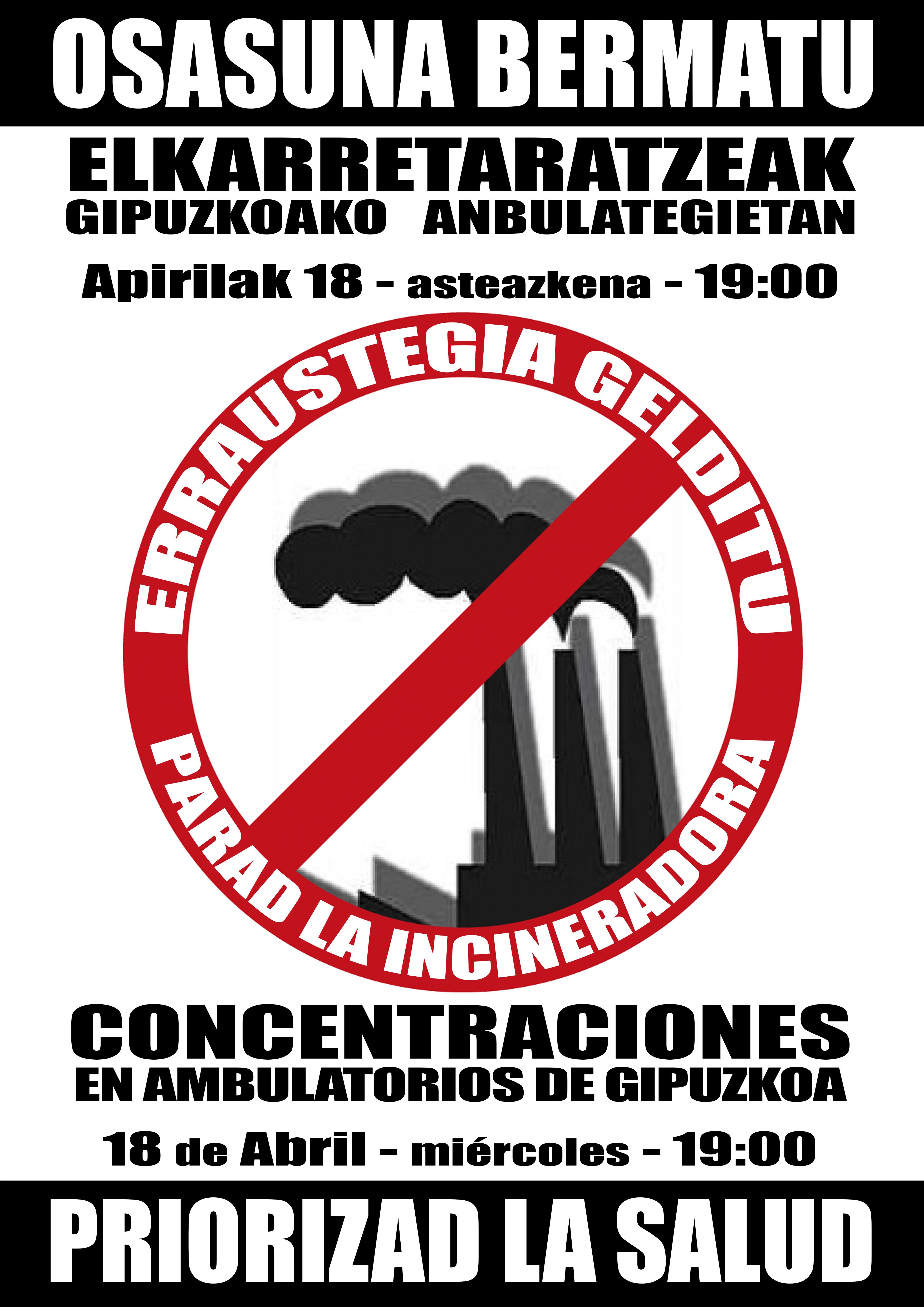 Hora de movilizarse: el 18 de abril concentraciones en los ambulatorios