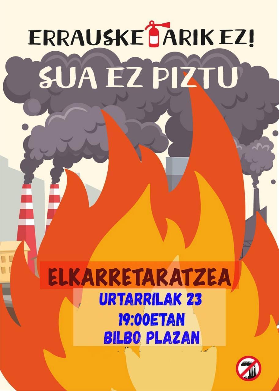 PSEko  egoitzaren  aurrean  protesta